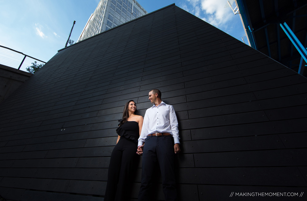 Industrial Downtown Engagement Session Cleveland Photographer