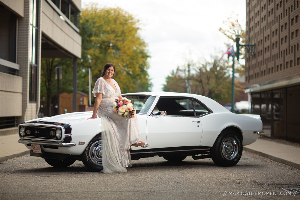 Classic Car Wedding Gown Cleveland Photographer