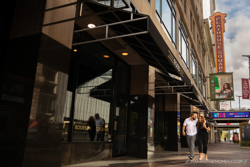 Playhouse Square Engagement Session Downtown Cleveland