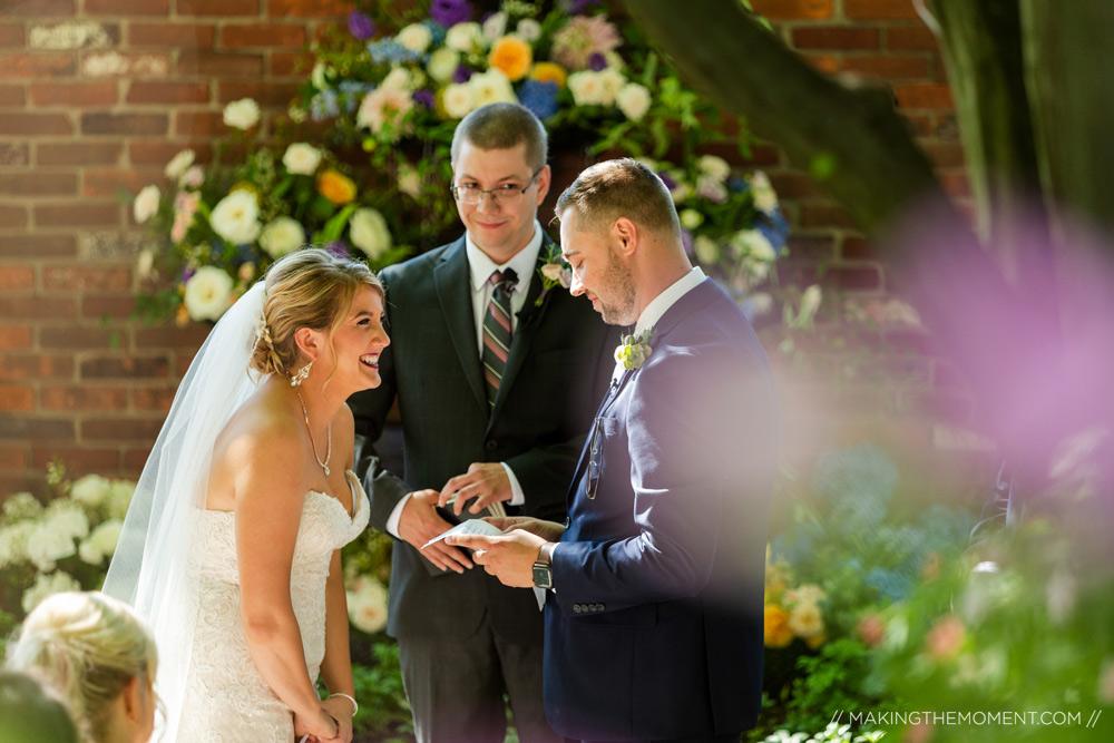 Candid Outdoor Wedding Ceremony Cleveland