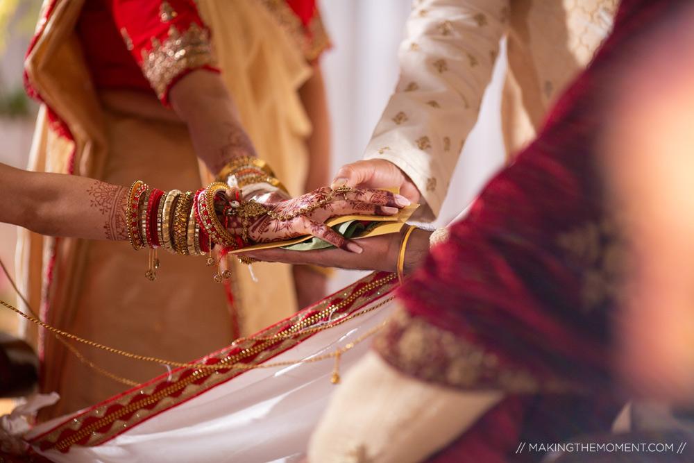 Creative Indian Wedding Ceremony Cleveland Photographer