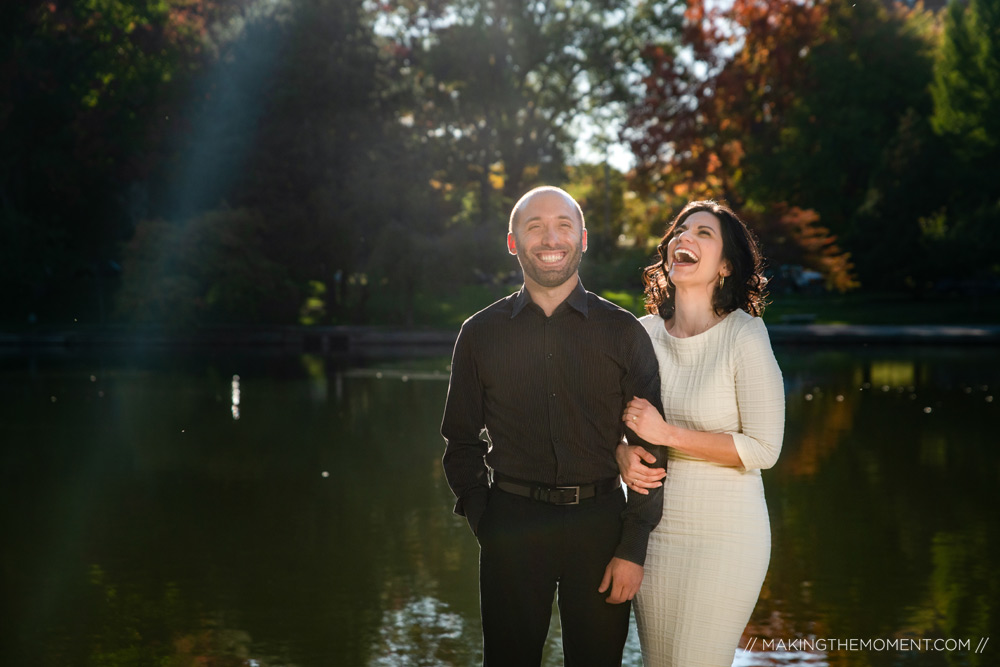 Fall Water Engagement Session Cleveland Photographer