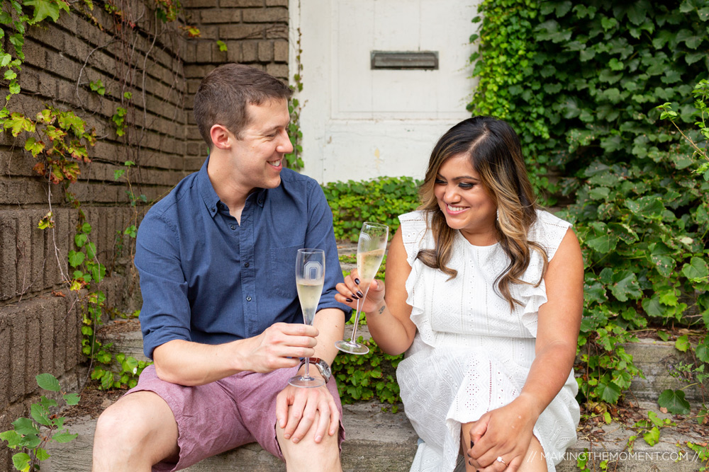 Champagne Engagement Session Ideas Cleveland