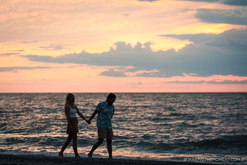 Beach Sunset Engagement Session Cleveland