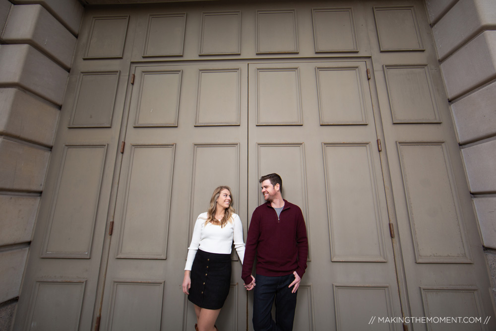 Downtown Engagement Session Cleveland Photographer