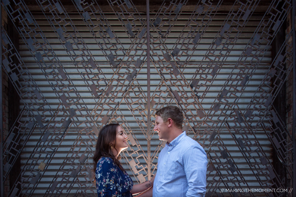 Cute Industrial Engagement Session Cleveland Photographer