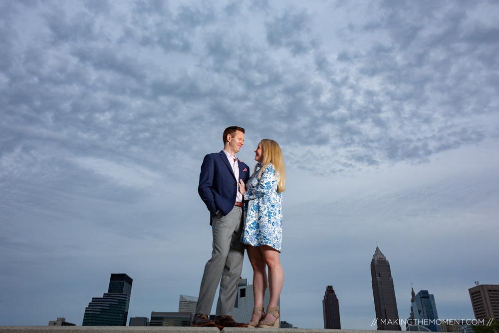 Skyline Engagement Session Cleveland