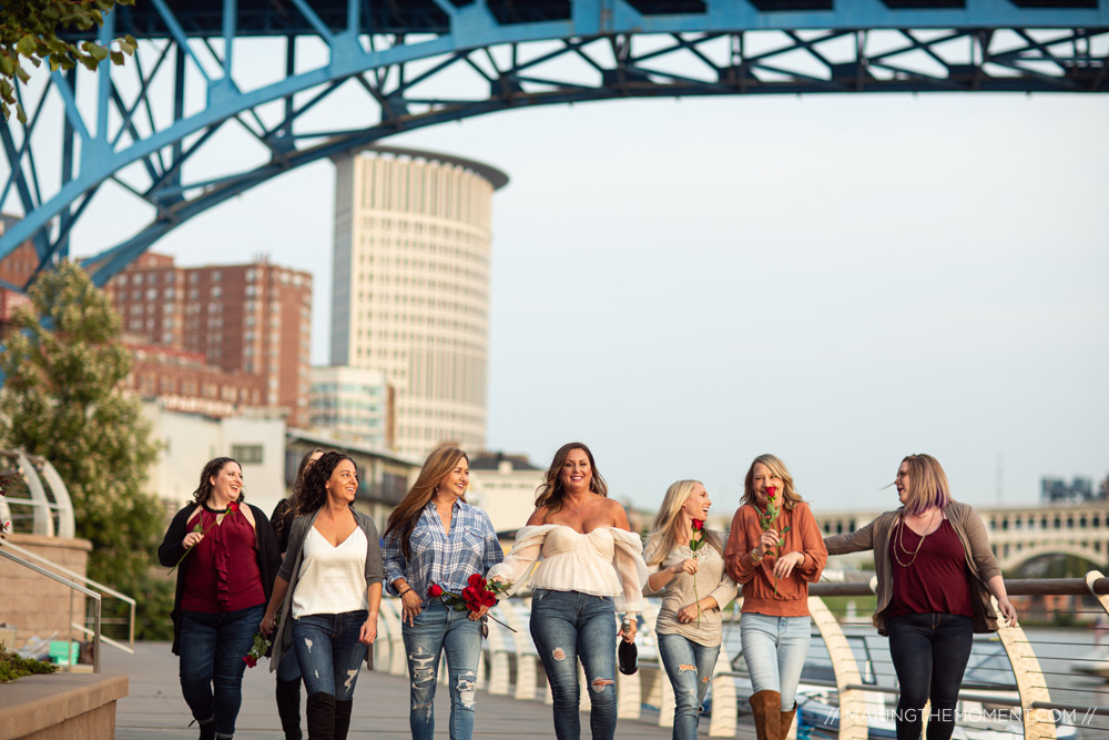 Bridesmaids Session Fun Downtown Cleveland