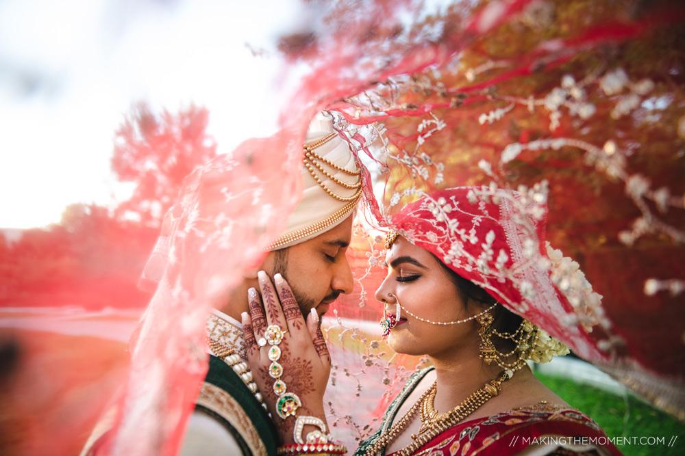 Unique Veil Best Indian Wedding Photographer Cleveland