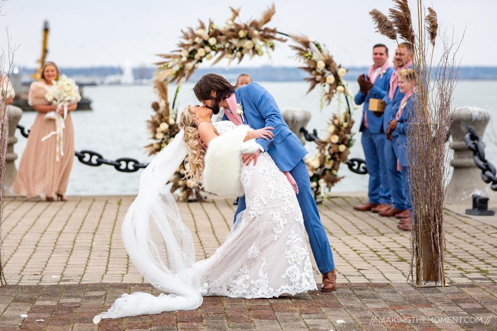 Lakeside Wedding Ceremony Cleveland Photographer
