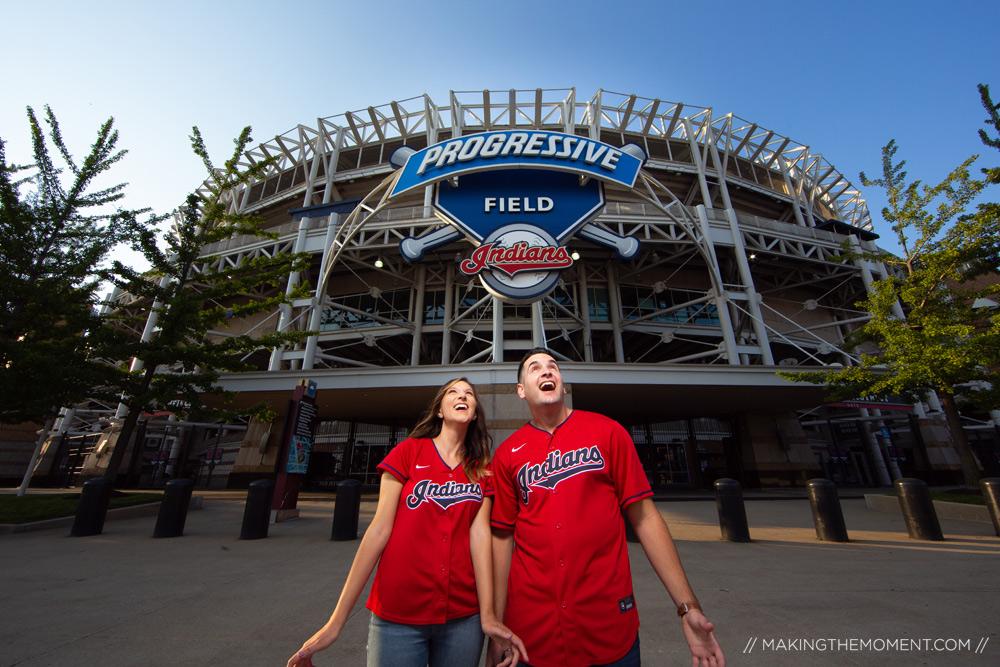 Cleveland Indians Engagement Session Ideas Photographers