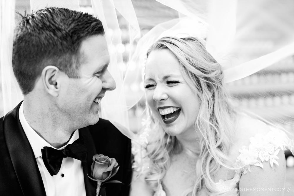 Cleveland Arcade Candid Veil Wedding Photographers