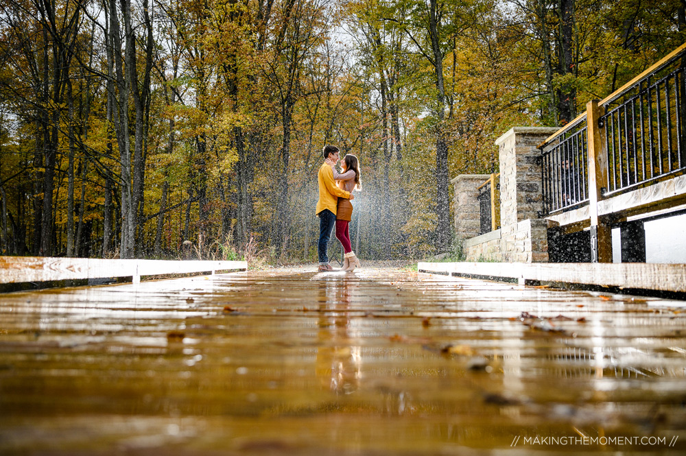 Creative Fall Engagement Sesssion Ideas Cleveland Photographer