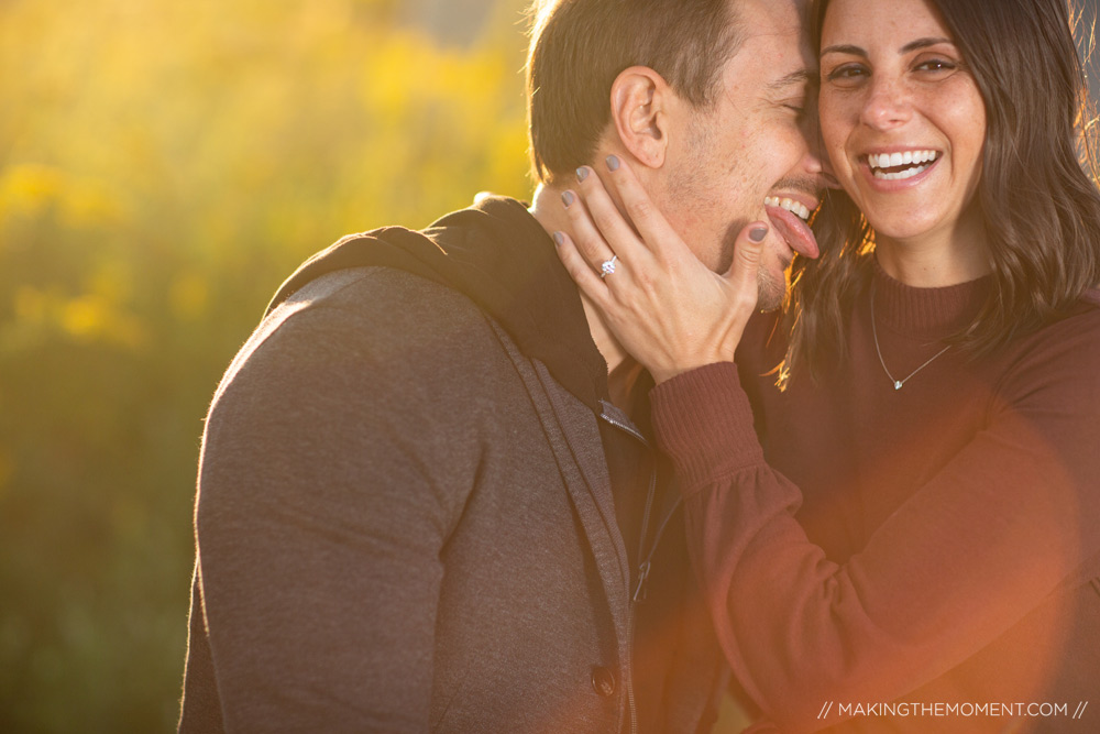 Fun Engagement Session Cleveland Photographer