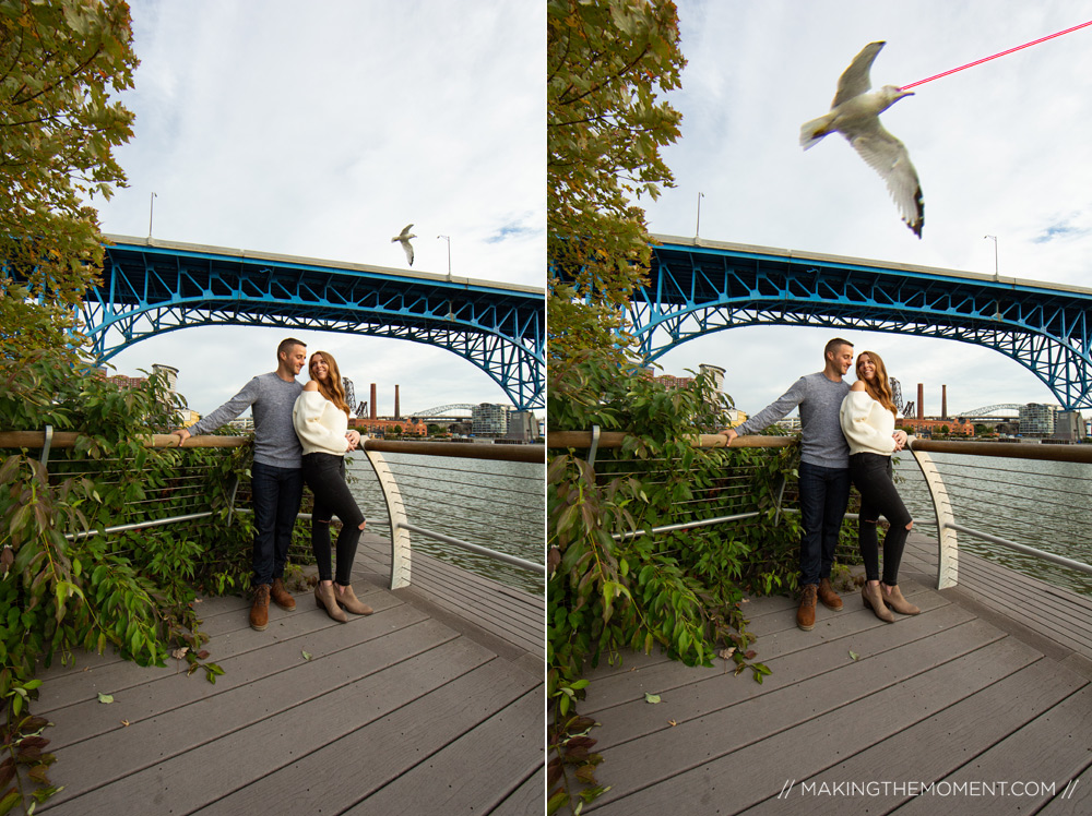 Downtown Cleveland Flats Engagement Sesssion
