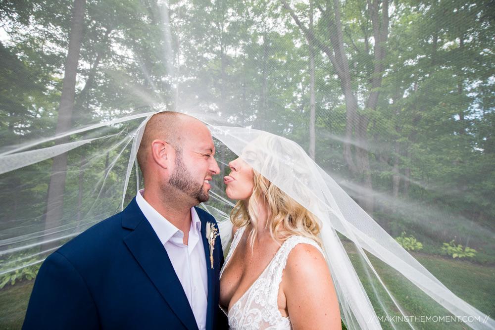 Fun Bridal Veil Picture Ideas Cleveland Wedding Photographer