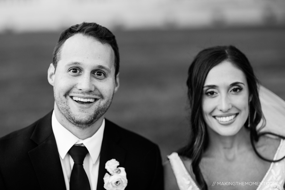 Fun Black and White Wedding Cleveland Photographer