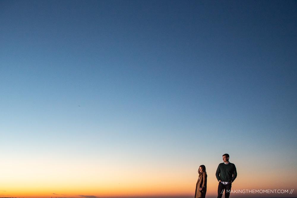 Sunset Engagement Session Cleveland Photographers
