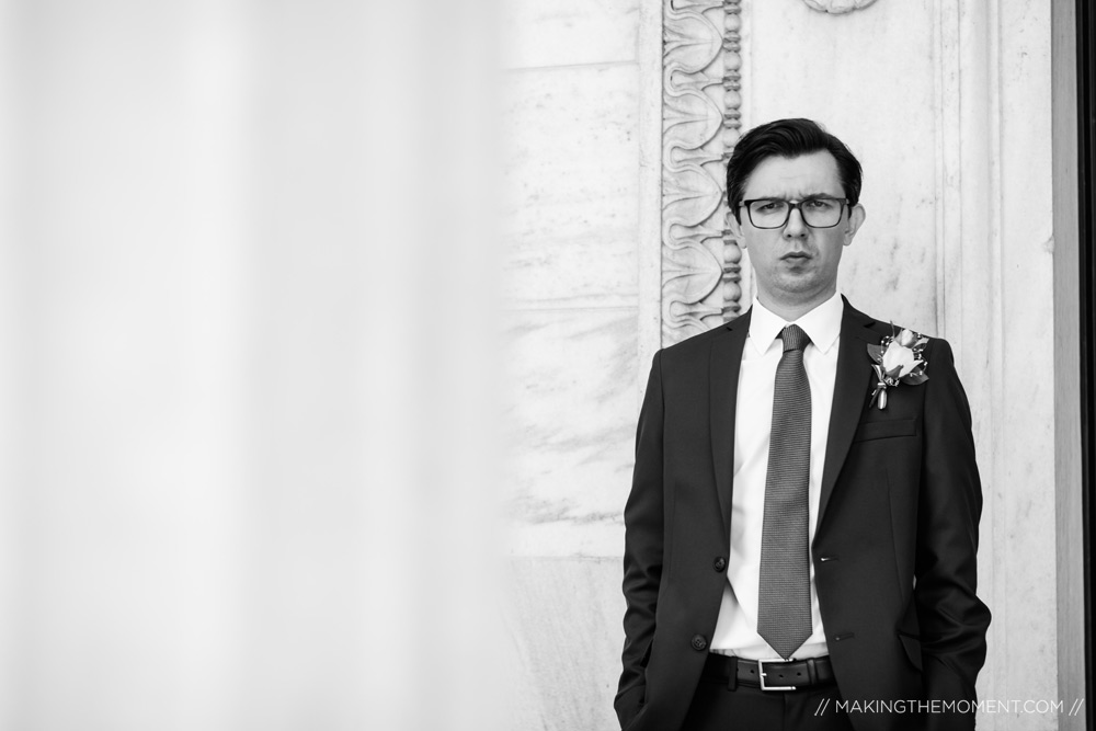 Candid Groom Wedding Photography in Cleveland