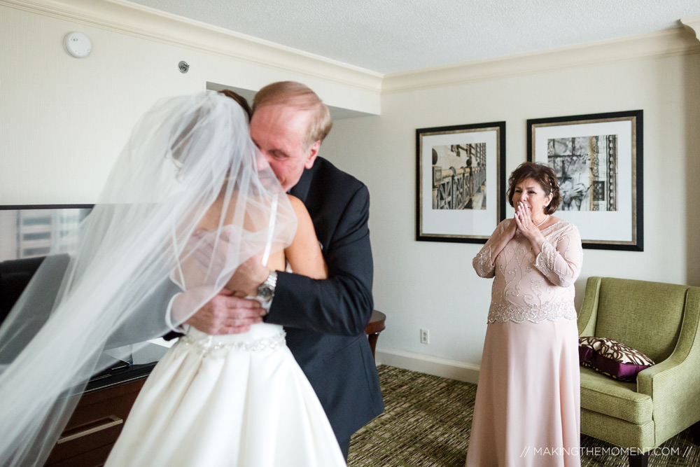 Father of the Bride First Look Ideas Cleveland Wedding Photograpy