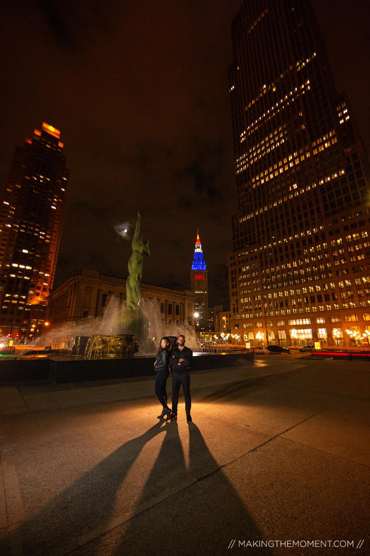 Unique Downtown Cleveland Skyline Wedding Inspiration