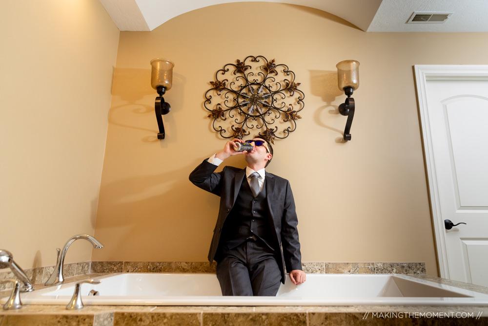 Groom Getting Ready Ideas Cleveland Wedding Photographer