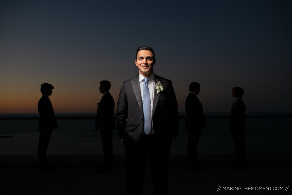 Groom Creative Wedding Photography Cleveland