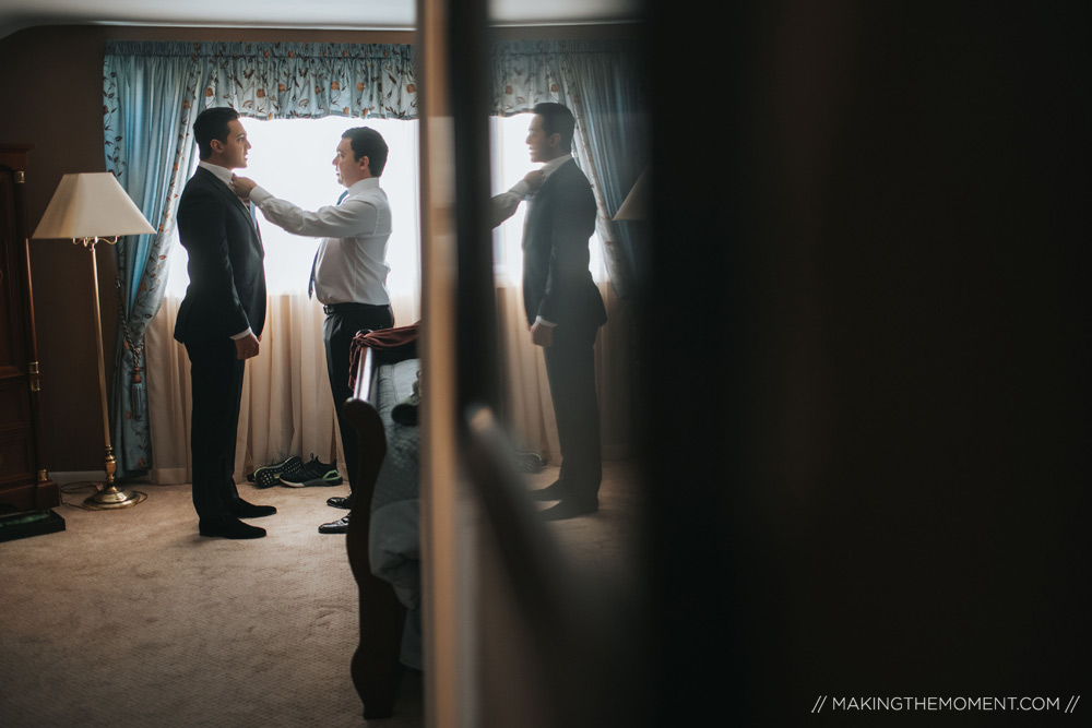 Groom Journalistic Wedding Photographers Cleveland