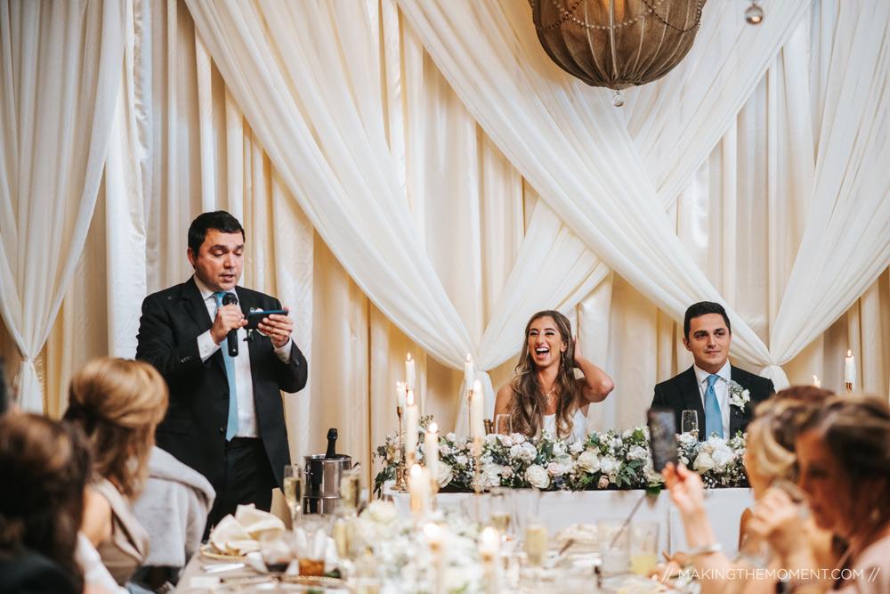 Intimate Cleveland Wedding Reception Photographers